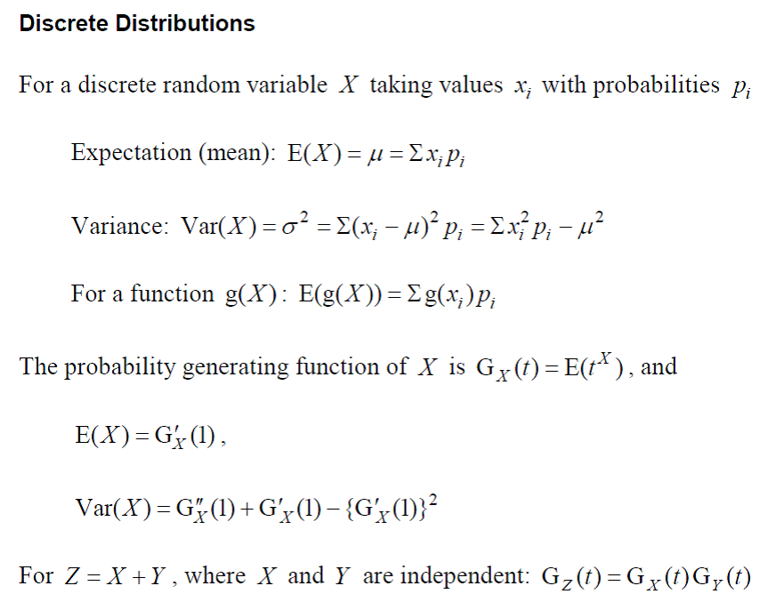 Probability Amp Statistics A2 Level Level Revision Maths