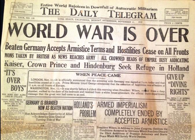 World War One Ending End of World War One