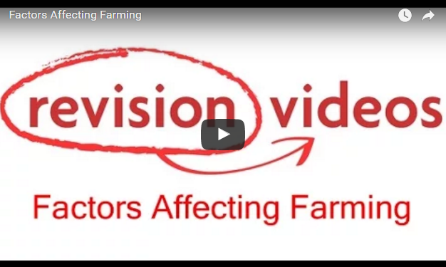 Factors affecting farming - Geography Revision