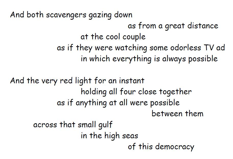 two scavengers in a truck poem