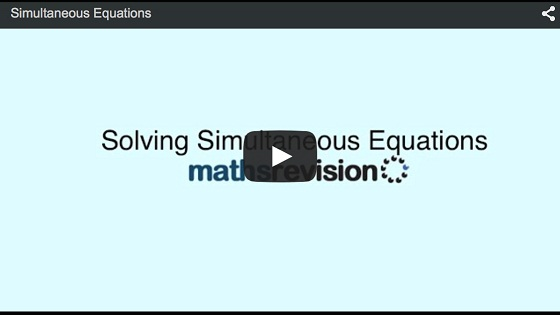 Simultaneous Linear Equations Gcse Revision Maths Number And