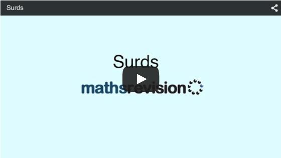 Surds Gcse Revision Maths Number And Algebra Number Surds