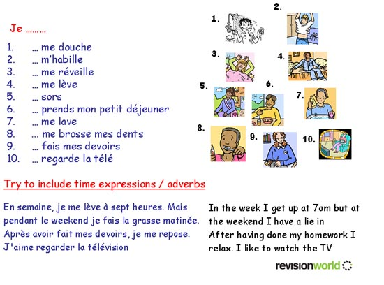 essay on my daily routine in french Learn french - my daily routine / typical day conversation - la routine / le quotidien - duration: 3:20 french lessons 24,527 views 3:20.
