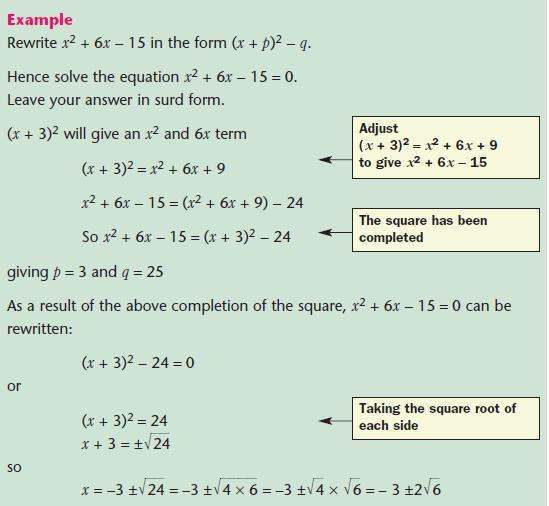 Quadratic Equations Mathematics GCSE Revision – Quadratic Applications Worksheet