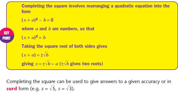 Quadratic Equations - Mathematics GCSE Revision