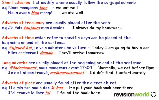 french essay with adverbs