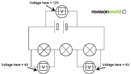 series and parallel circuits gcse revision physics electricity rh revisionworld com Home Circuit Diagram House Electrical Circuit Diagram